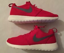 New Men's Nike Roshe One 511881-601 Sport Red Grey Size 10