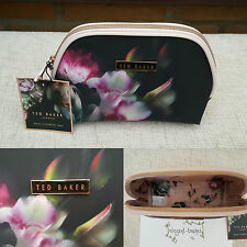Ted Baker Ladies Autumn 16 Black Floral Small Medium Cosmetic Purse Make-up Bag