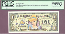2005 $1 A Disney Dollars 2ND ISSUE CINDERELLA 50TH ANNIV PCGS 67 PPQ SUPERB GEM