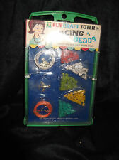 New M FUN CRAFT TOTER Lacing Beads Charms Multiple Toymakers Set Rare Vtg 1967