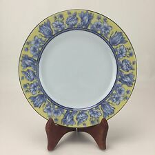 Coventry Palace Garden Salad Plate Floral Fine China Blue Yellow Multi-Color