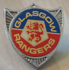 RANGERS vintage 1970s 80s insert type badge Brooch pin Chrome 28mm x 31mm