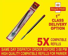 QUALITY 5 X PARKER COMPATIBLE BROAD REFILLS FOR BALLPOINT MEDIUM  Red