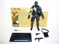 GI JOE SNAKE EYES 25th Anniversary Figure COMPLETE w/FILE CARD C9+ v32 2008