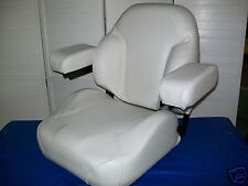 WHITE COMFORT KING DELUXE SEAT, DIXIE CHOPPER,ZTR ZERO TURN MOWERS ZTR,#KE