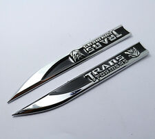 1pair,Black Metal Car Emblem Badge Side Fender Stickers Transformers Decepticons
