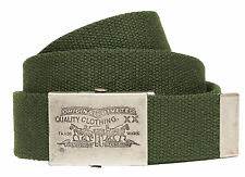 MENS LEVIS 2 HORSE CANVAS JEAN FASHION BELT 100% COTTON  013497 - GREEN