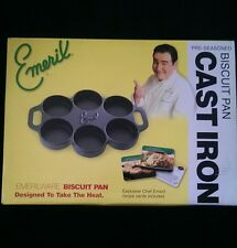 Emeril Cast Iron Biscuit Pan New with Retail Box Great For Egg Muffins