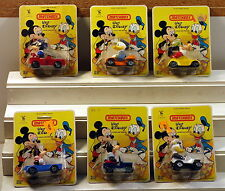 DTE 1ST SET OF 6 1979 LESNEY MATCHBOX SUPERFAST DISNEY CHARACTER TOYS NIOP