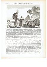 """1825 """"Sainte Euphrasie ou Euphraxie"""" de Thebaide fille d'Antigone Santa Eufrasia"""