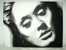 Canvas Painting Singer Adele Laurie Blue Adkins B B&W Art 16x12 inch Acrylic