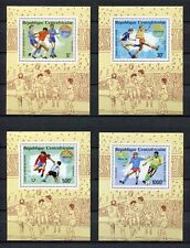 s6234) CENTRAFRICAINE REP 1990 MNH** WC Football'90 -CM Calcio S/Sx4 IMPERF