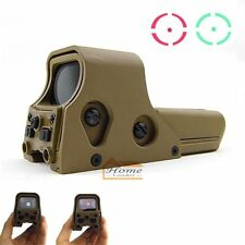 Tactical Military Tan Camouflage Holographic 552 Red/ Green Dot Graphic Sight