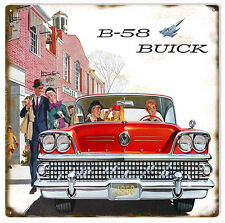 B-58 Buick Classic Car Automobile Sign Reproduction