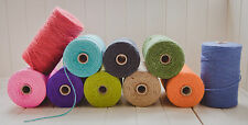 100m  Thick Bundle Coloured Twine Job Lot String Ribbon Craft Jute Natural