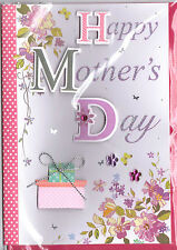 Mother's Day Card For Mum. Happy Mother's Day  3D Handmade Card.