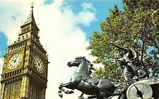 B73717 Big ben and boadicea statue London