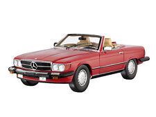 NOREV 1985 Mercedes 300SL USA Version (R107) Cabriolet Red Rare Dealer Edition!