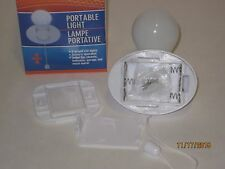 Portable Light 3 LED Bulbs B/O - Pull ON/OFF Switch Install Anywhere, Cordless