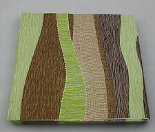 10 Linclass Paper Napkins - linen look 40 x 40cm Modern Brown Green - Ramon