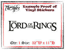 Lord of the Rings Custom Wall Vinyl Sticker
