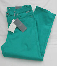 LADIES MARKS AND SPENCER PER UNA ROMA BRIGHT JADE CROPPED JEANS SIZE 14