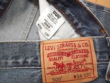 "LEVIS 505 REGULAR FIT W34"" L30"" (ORIGINAL)765N"