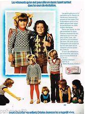 Publicité Advertising 1973 Les Vetements pour enfant Créatex Jeunesse