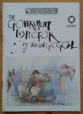 Gogol's The Government Inspector programme Alexandra Theatre Birmingham 1988