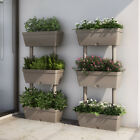 3 Tier Plant Stand Balcony Plant Pot Garden Plastic Floral Display Shelving Pot