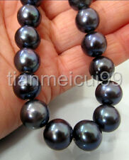 """REAL PERFECT GORGEOUS 18 """"10-11MM TAHITIAN AAA + NATUREL COLLIER NOIR DE PERLE"""