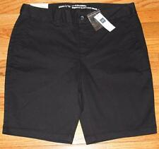 NWT Womens Khakis by GAP Shorts The City 10 Inch Bermuda Short Black $39 *3A