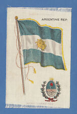 SILK - AMERICAN TOBACCO CO. - NATIONAL FLAGS & ARMS CARD - ARGENTINA  - 1910