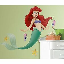 Disney Little Mermaid Giant Wall Decal Sticker Party Decor Applique Nursery Room