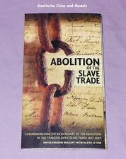 2007 ROYAL MINT SPECIMEN £2 COIN IN FOLDER - ABOLITION SLAVE TRADE