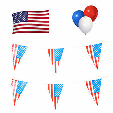 America / American / USA Party Pack. Bunting / Flag / Balloons