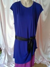 EUC NARCISCO RODRIGUEZ for Design Nation Dress  - Navy Blue Burgundy  SZ XL