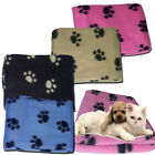 New Paw Print Pet Soft Fleece Blanket Dogs Puppy & Cat guinea pig Car bed Small