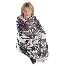 10 Pack Emergency Solar Blanket Survival Safety Insulating Mylar Thermal Heated