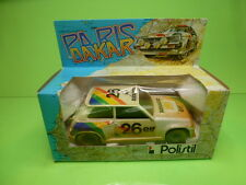 POLISTIL RENAULT 5 TURBO PARIS DAKAR No 26 - WHITE 1:24 - GOOD IN BOX
