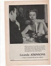 Pubblicità vintage ATKINSONS ENGLISH LAVENDER advert reklame werbung publicitè