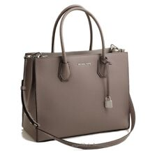NWT MICHAEL KORS  Mercer Large Convertible Tote in Cinder Gray/Silver