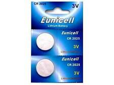 2 x EUNICELL CR2025 BATTERIES FOR RENAULT CLIO MEGANE LAGUNA REMOTE KEY FOB