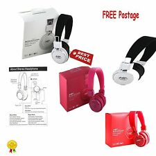 NIA Collapsible MRH-8809 Micro SD/FM Stereo Radio/MP3 Player Headphones With MIC
