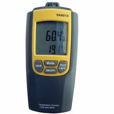 Dual Display LCD Temperature Humidity Meter with Dew Point -10 to 50ºC VA8010
