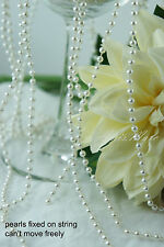 1.5 Meter 4mm White Pearl Garland String for Wedding/Bridal/Corsages/Decorations