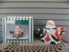 Vintage Hand Painted Santa Claus Tea Pot Christmas Gift Collection