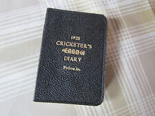 1923 BUSSEY Cricketers CRICKET Diary & Companian with Leather Bindings