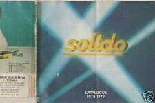 CATALOGUE SOLIDO 1978-1979 COMPETITION TOURISME TONERGAM MILITAIRE AGE D'OR a