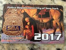 2017 SBA ****SIGNED**** PBA NYPD CARD   *PLEASE MAKE BEST OFFER*